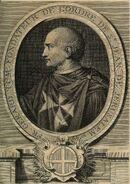 Gravure de Fra Gerard fondateur des Hospitaliers de Saint-Jean