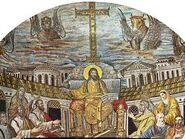 Christ-Ruler-Apostles-Evangelists-figures-Santa-Pudenziana-417-ce