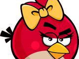 Червона пташка-дівчинка