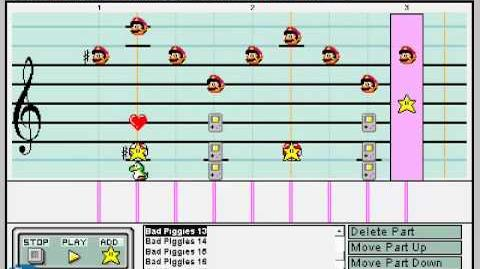 (Bad Piggies) Mario Paint Composer - Theme and Game Selection