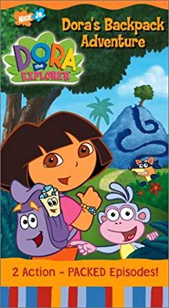 Dora the Explorer: Dora's Backpack Adventure (2002 VHS)