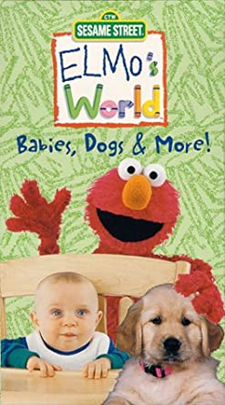 Elmo's World: Babies, Dogs, & More! (2000 VHS)