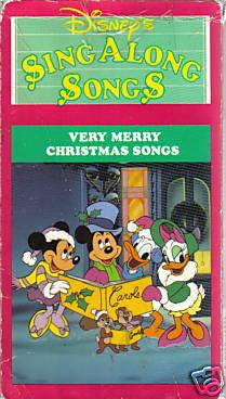 Disney's Sing-Along Songs: Very Merry Christmas Songs (1988-2002 VHS)