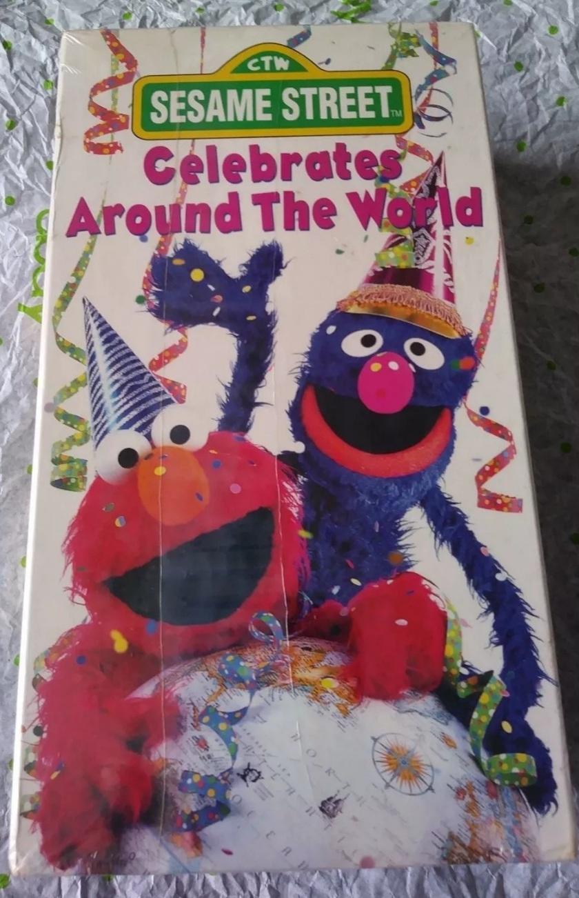 Sesame Street Celebrates Around the World (1994-1996 VHS)