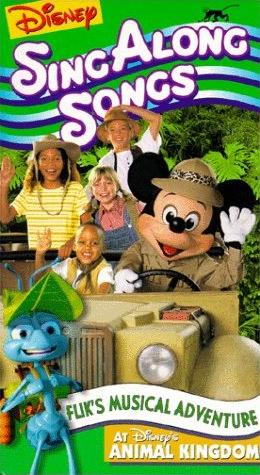 Disney Sing Along Songs: Flik's Musical Adventure at Disney's Animal Kingdom (1999 VHS)
