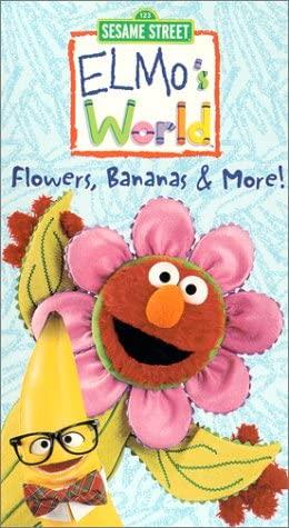 Elmo's World: Flowers, Bananas, & More! (2000 VHS)