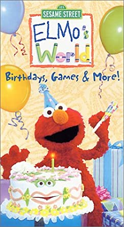 Elmo's World: Birthdays, Games & More! (2001 VHS)