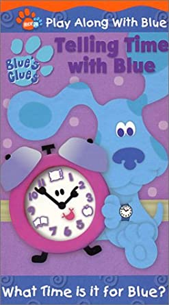 Blue's Clues: Telling Time with Blue (2002 VHS)