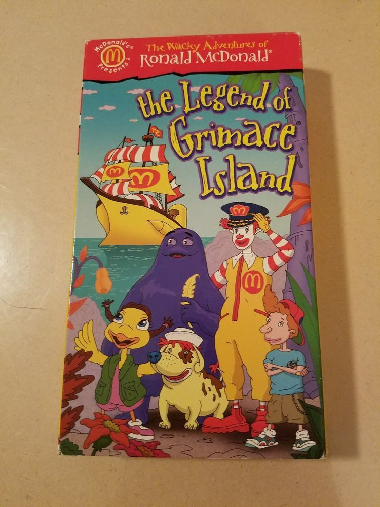 The Wacky Adventures of Ronald McDonald: The Legend of Grimace Island (1999 VHS)