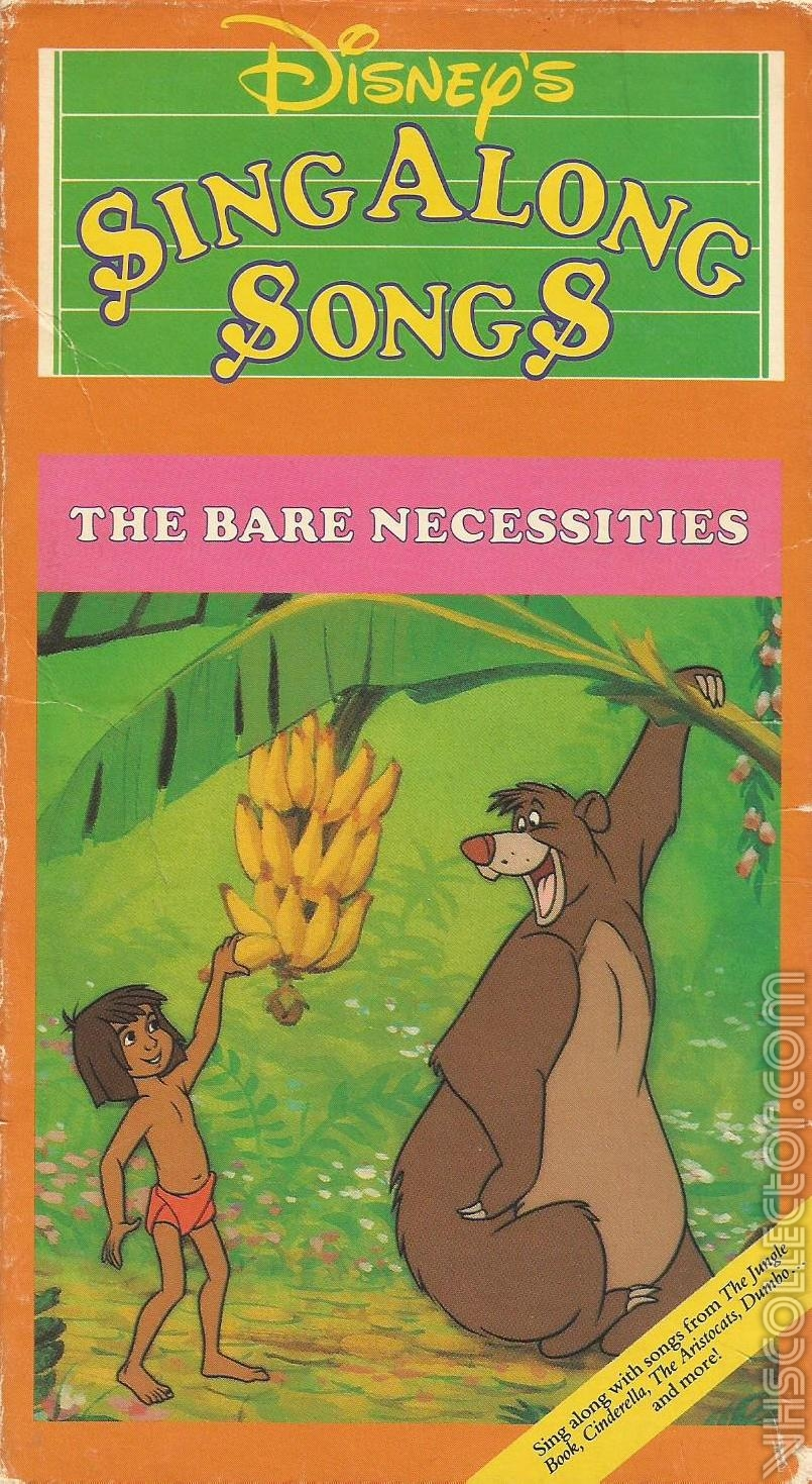 Disney's Sing Along Songs The Bare Necessities (1987-1994 VHS)