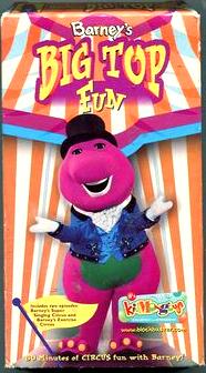 Barney: Barney's Big Top Fun (2000 VHS)