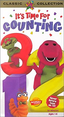 Barney's It's Time For Counting (1997 VHS)