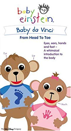 Baby Einstein: Baby Da Vinci From Head to Toe (2004 VHS)