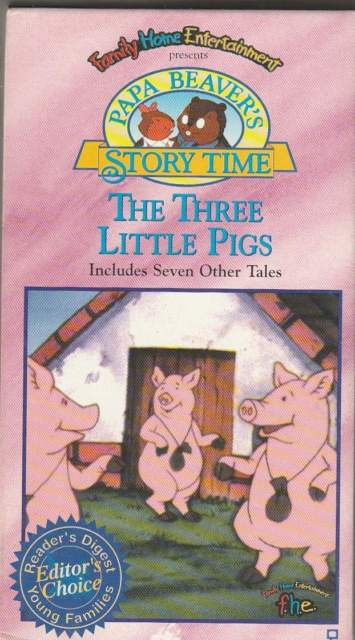 Papa Beaver's Storytime: The Three Little Pigs (1995 VHS)