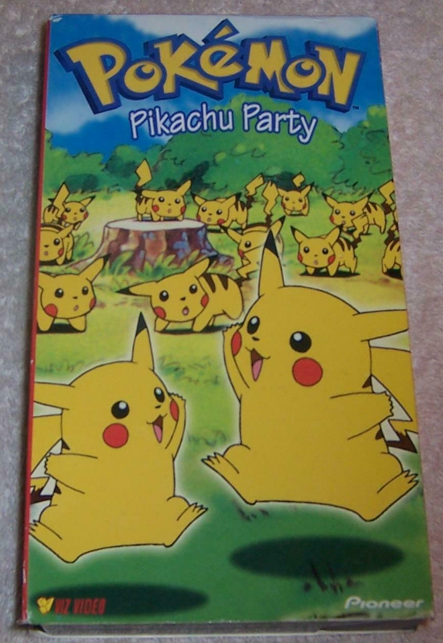 Pokemon Pikachu Party (1999 VHS)