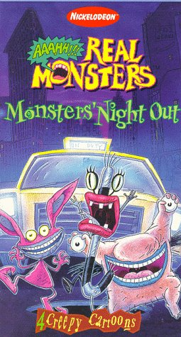 Aaahh!!! Real Monsters: Monsters Night Out (1997 VHS)