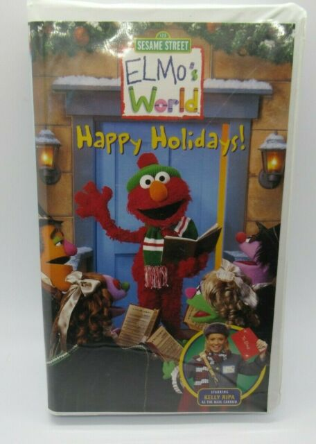 Elmo's World: Happy Holidays (2002 VHS)