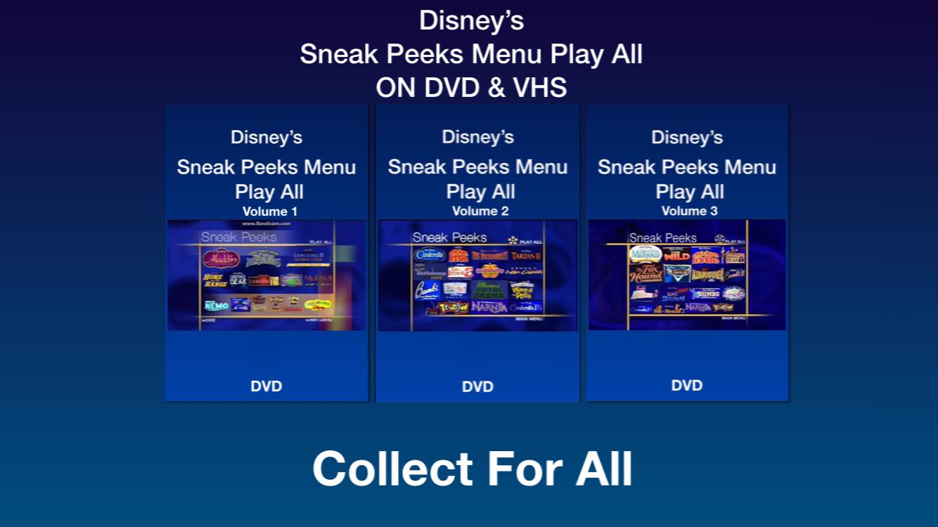 Sneak Peeks Menu Play All Volume Season On DVD & VHS Promo