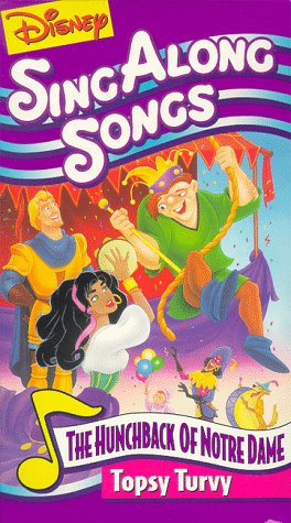 Disney Sing Along Songs Topsy Turvy (1996 VHS)
