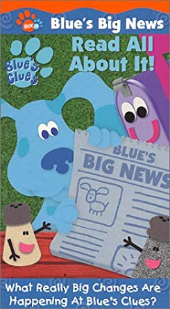 Blue's Clues: Blue's Big News: Volume 1: Read All About It! (2001 VHS)
