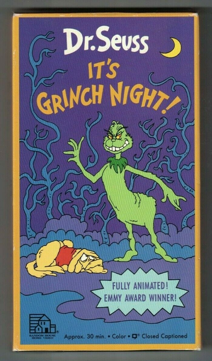 Dr. Seuss Halloween is Grinch Night (1985-1998 VHS)