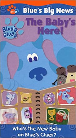 Blue's Clues: Blue's Big News: Volume 2: The Baby's Here! (2001 VHS)