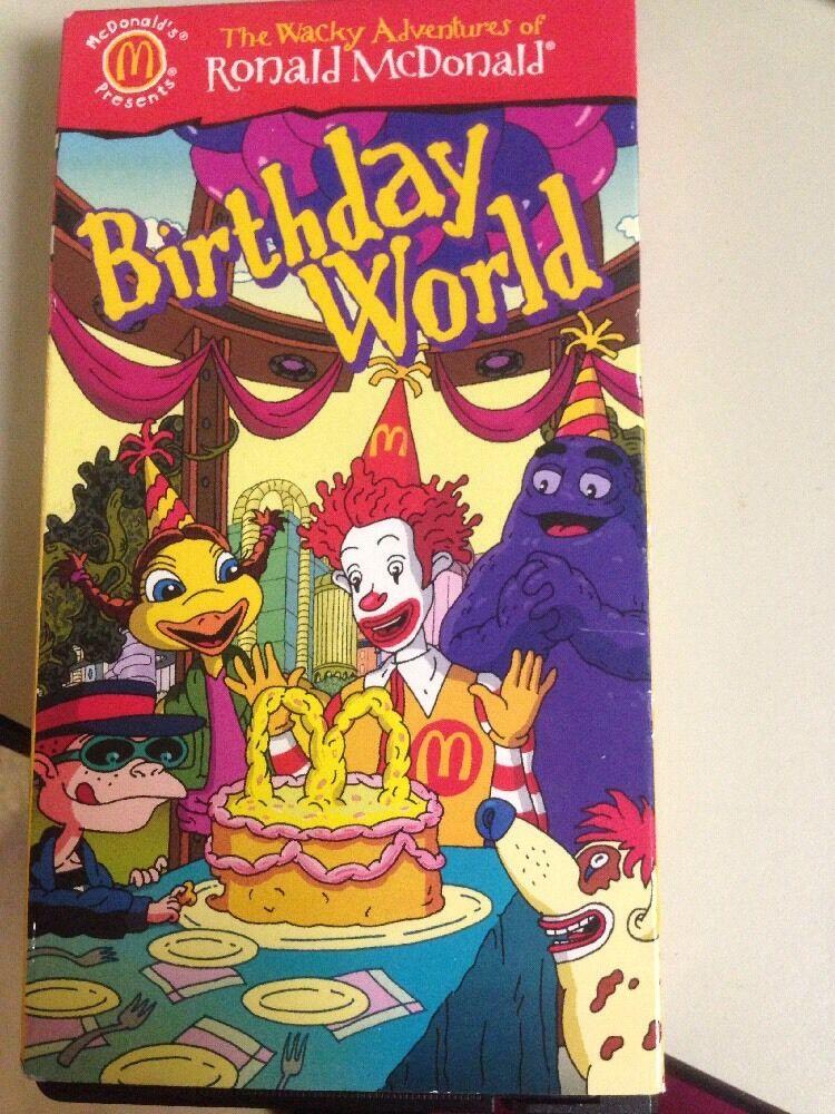 The Wacky Adventures of Ronald McDonald: Birthday World (2001 VHS)