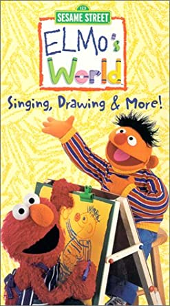 Elmo's World: Singing, Drawing, and More (2000 VHS)