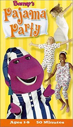 Barney: Barney's Pajama Party (2001 VHS)
