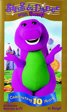 Barney: Sing and Dance with Barney (1998-2000 VHS)