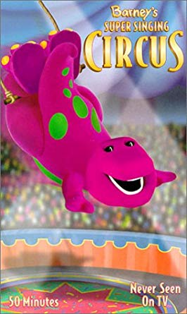 Barney: Barney's Super Singing Circus (2000 VHS)
