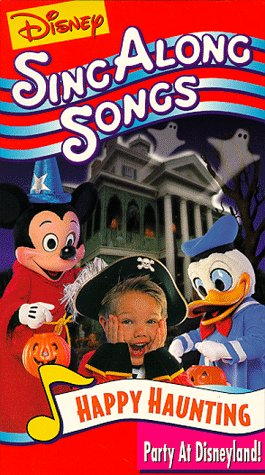 Disney's Sing-Along Songs: Happy Haunting Party at Disneyland (1998 VHS)