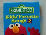 Sesame Street: Kids' Favorite Songs 2 (2001 VHS)