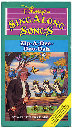 Disney Sing Along Songs Zip-A-Dee-Doo-Dah (1986-2001 VHS)