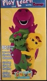 Barney: Play and Learn with Barney (1998 VHS)
