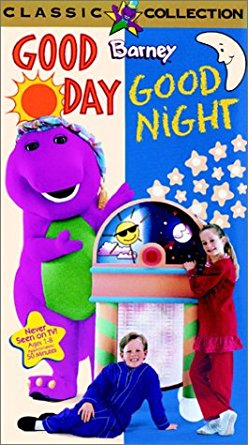 Barney's Good-Day Good Night (1997 VHS)