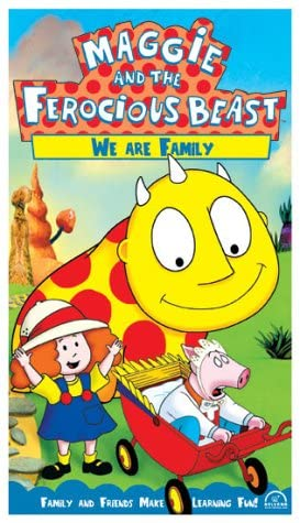 Maggie and the Ferocious Beast: We Are Family (2002 VHS)