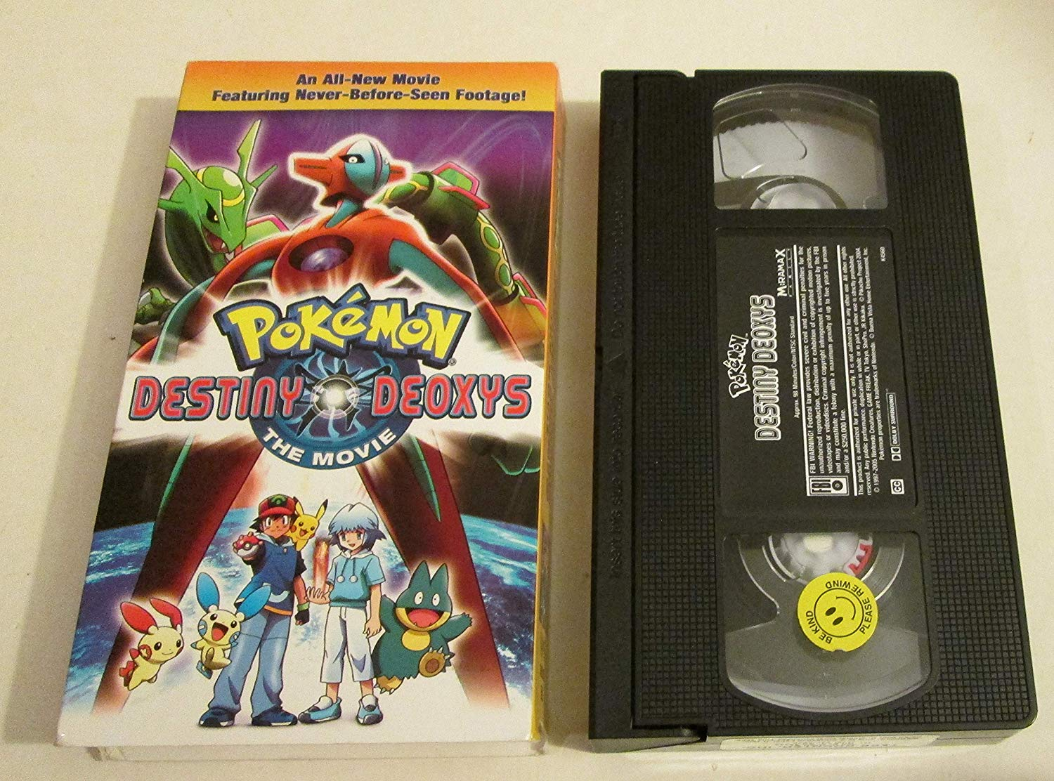 Pokemon Destiny Deoxys (2005 VHS)