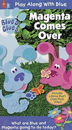 Blue's Clues: Magenta Comes Over (2000 VHS)