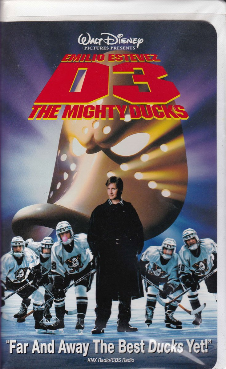 D3: The Mighty Ducks (1997 VHS)