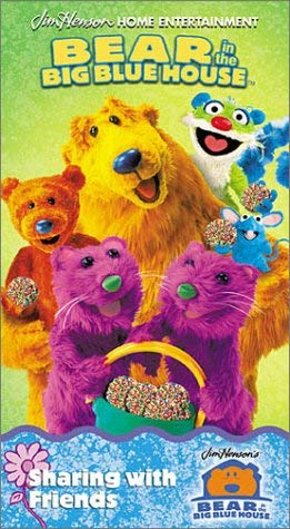 Bear in the Big Blue House: Sharing with Friends (2001 VHS)