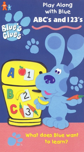Blue's Clues: ABC's and 123's (1999 VHS)