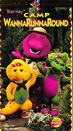 Barney's Camp WannaRunnaRound (1997 VHS)