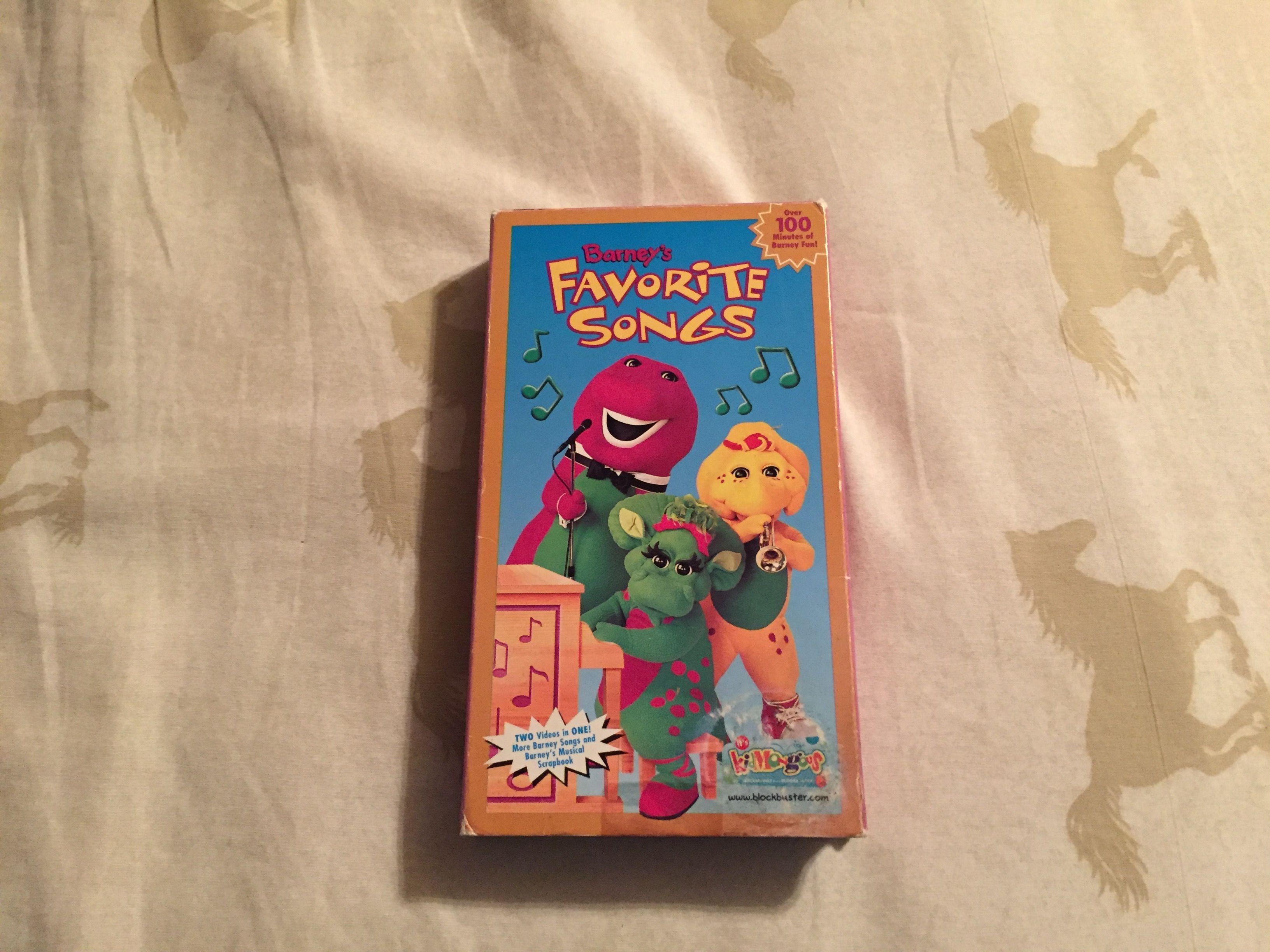 Barney: Barney's Favorite Songs (1999 VHS)