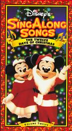 Disney Sing Along Songs The Twelve Day Christmas (1993-2001 VHS)