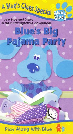Blue's Clues: Blue's Big Pajama Party (1999 VHS)