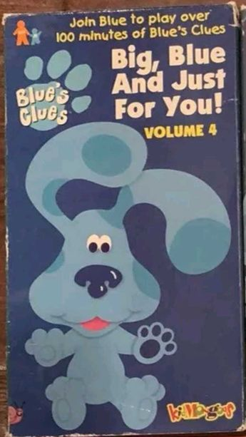 Blue's Clues: Big, Blue and Just for You! Volume 4 (2000 VHS)