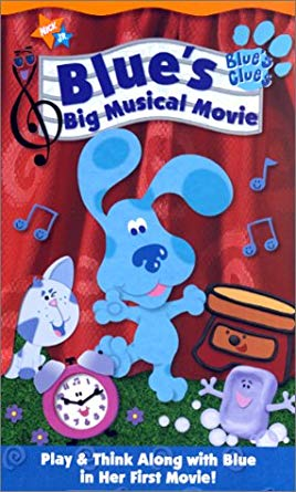 Blue's Clues: Blue's Big Musical Movie (2000 VHS)