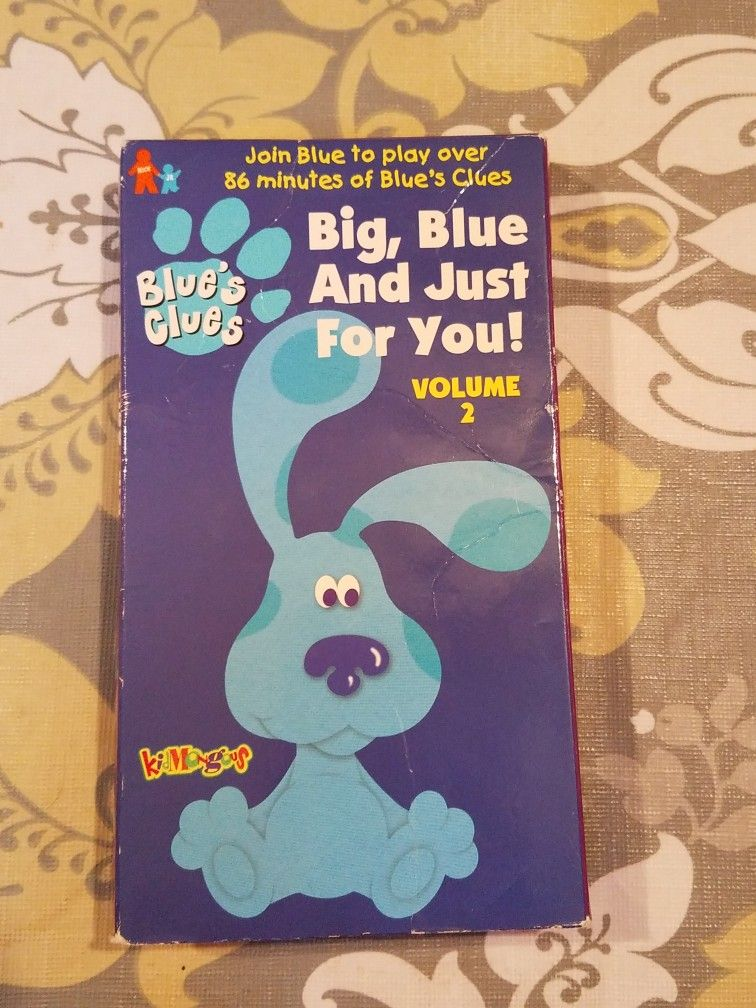 Blue's Clues: Big, Blue and Just for You! Volume 2 (1999 VHS)