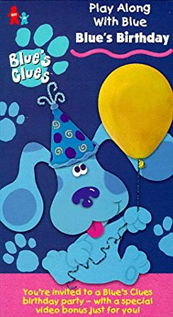 Blue's Clues: Blue's Birthday (1998 VHS)